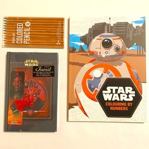 NWT Star Wars Colouring Book Journal Gift Set
